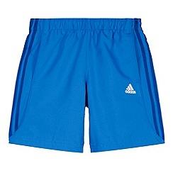 adidas - Boy's blue 'Chelsea' striped shorts