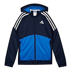 adidas - Boy's navy 'ClimaLite' hoodie