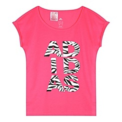 adidas - Girl's pink animal logo t-shirt