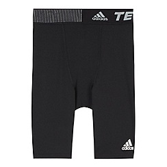 adidas - Boy's black 'TechFit' base layer shorts