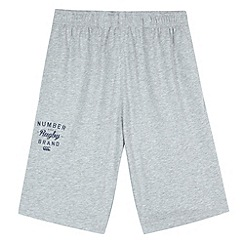 Canterbury - Boy's grey 'Number one brand' jersey shorts