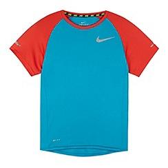 Nike - Boy's blue crew neck t-shirt