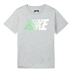 Nike - Boy's grey logo print t-shirt