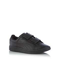 Puma - Boy's black rip tape trainers