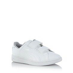 Puma - Boy's white rip tape trainers