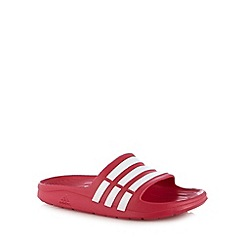 adidas - Kids red 'Duramo Slide' flip flops