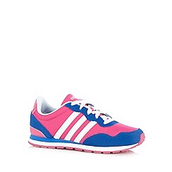 adidas - Girl's pink 'Jog' trainers
