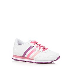 adidas - Girl's white 'Jog Light' trainers