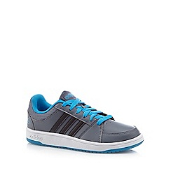 adidas - Boy's dark grey 'Hoops VS' trainers