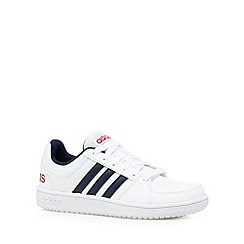 adidas - Boy's white 'Hoops VS' trainers