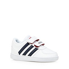 adidas - Babies white 'Hoops VS' two tab trainers