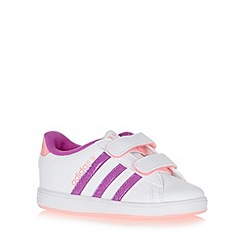 adidas - Girl's white 'Derby' trainers