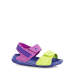 adidas - Girl's purple rip tape strap sandals