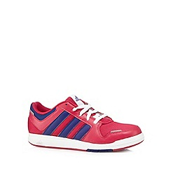 adidas - Girl's pink 'LK 6' lace up trainers