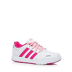 adidas - Girl's white 'LK 6' lace up trainers