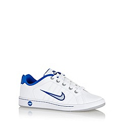 Nike - Boy's white 'Court Tradition 2 Plu' trainers