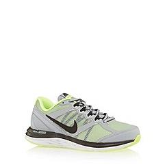 Nike - Boy's grey 'Dual Fusion 3' mesh trainers