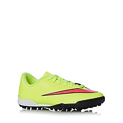 Nike - Boy's neon yellow 'Mercurial Vortex II' trainers