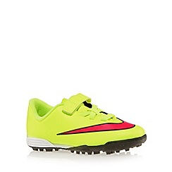 Nike - Boy's neon yellow 'Mercurial Vortex II' football boots