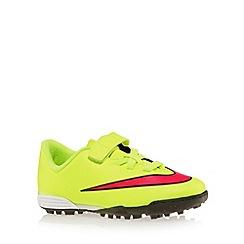 Nike - Boy's neon yellow 'Mercurial Vortex II' football boots