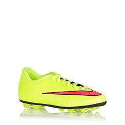 Nike - Boy's yellow 'Mercurial Vortex II F' football trainers