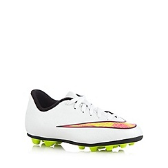 Nike - Boy's white 'Mercurial Vortex II' football boots