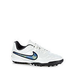 Nike - Boy's white 'Tiempo Rio II Firm' turf trainers