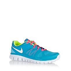 Nike - Girl's light blue 'Flex Run 2014' trainers