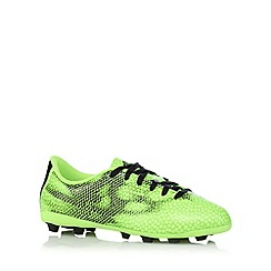 adidas - Boy's green 'F50' firm ground football trainers
