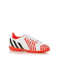 adidas - Boy's white 'Predito Instinct' turf football boots