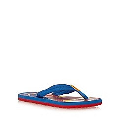 Puma - Boy's blue 'Superman' flip flops