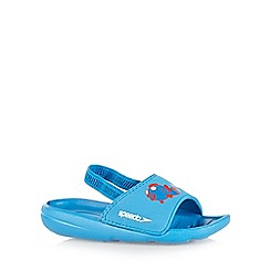 Speedo - Boy's blue 'Sea Squad' sandals
