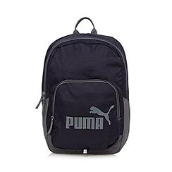 Puma - Navy 'Phase' logo backpack