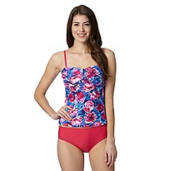 Zoggs - Pink floral bust support tankini set