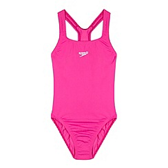 Speedo - Pink essential endurance + medalist swimsuit