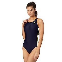 adidas - Navy 'Infinitex' logo swimsuit