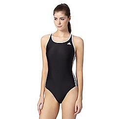 adidas - Black logo racer back swimsuit