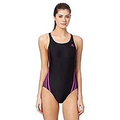 adidas - Black 'Infinitex' logo swim suit