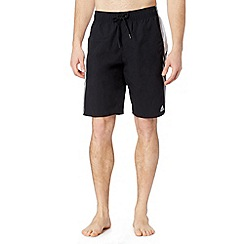 adidas - Black contrast panel swim shorts