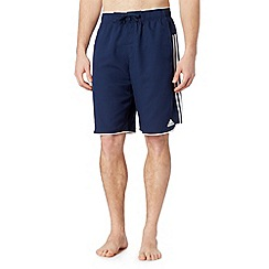 adidas - Navy contrast trim swim shorts