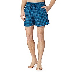 adidas - Navy checked swim shorts