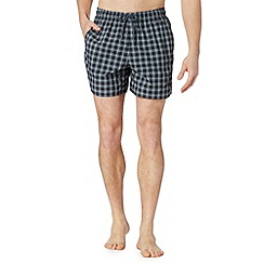 adidas - Black checked swim shorts