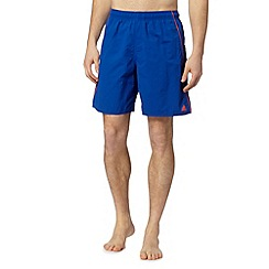 adidas - Royal blue tipped swim shorts