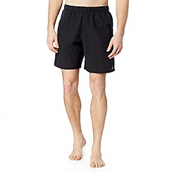 adidas - Black logo swim shorts