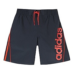 adidas - Boy's navy lined swim shorts