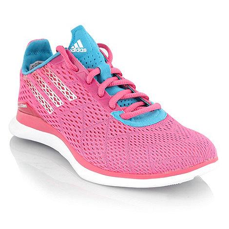 adidas - Pink +Adizero+ mesh trainers