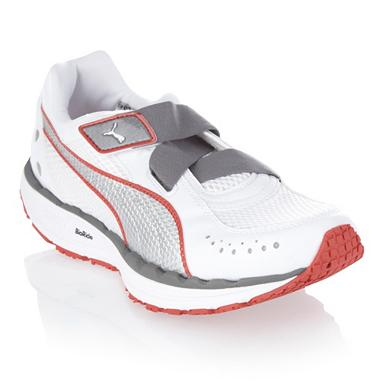 White 'Bodytrain' mesh trainers
