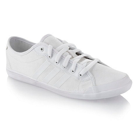 adidas - White canvas 'Neo' trainers
