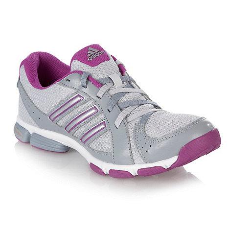 adidas - Purple +Flash+ grey mesh panel trainers