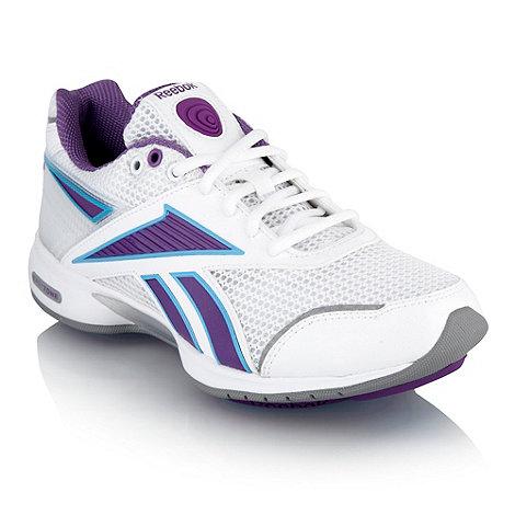 Reebok - White +Easytone+ panel trainers